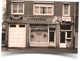 Jozef Dockx established Dockx-Colli-Express on the Boomsesteenweg in Wilrijk in May 1979 to rent vans and trucks